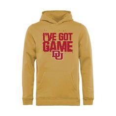 Denver Pioneers Youth Got Game Pullover Hoodie - Gold - $34.99