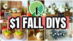 AMAZING DOLLAR TREE FALL DIYS (easy & high-end $1 crafts to try 2021) - YouTube Dollar Tree Fall, Dollar Tree Crafts, Fall Crafts, Decor Crafts, Diy Crafts, Fall Yard Decor, Fall Decorations, Fall Projects, Diy Projects