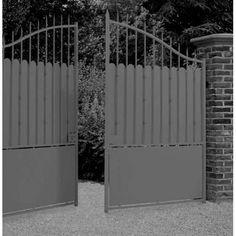 Portail en fer forg battant et coulissant mod le 1tc for Peindre un portail en bois