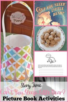 Can't You Sleep, Little Bear? activities include free printables, a step by step tutorial for a Paper Lantern craft for kids, a recipe for Peanut Butter Honeyballs, and other lesson ideas for the homeschool or classroom Homeschool Preschool Curriculum, Preschool Lesson Plans, Preschool Books, Preschool Themes, Book Activities, Reading Resources, Teaching Plan, Teaching Kids, Lantern Craft