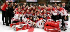 Team Canada brings home the GOLD  The Canadian Women's Hockey team Rocks....photo from the.Cdn Olympic Team/Hockey Canada