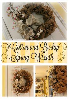Priscillas: Springing Up The Burlap Wreath