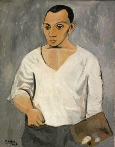 'Autorretrato con paleta', 1906, de  Pablo Picasso
