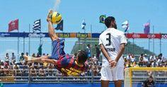 El fútbol playa, protagonista en el puente del 1 de mayo en Barcelona