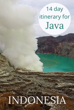 Adoration 4 Adventure's 14-day budget backpacking itinerary of Java, Indonesia with stops in Bayuwangi, Surabaya, Yogyakarta, Bandung, and Jakarta. Travel tips include Java island points of interest, Indonesia itinerary 2 weeks, and budget breakdown.