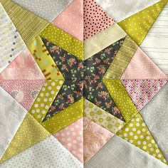 Sew Some Sunshine: Delilah Quilt - Block 3 - Shooting Star - Jen Kingwell Template of the Month