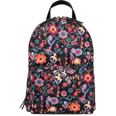 Redvalentino Backpack ($485) ❤ liked on Polyvore featuring bags, backpacks, black, flower print backpack, floral bag, colorful bags, red valentino bag and multi colored backpacks