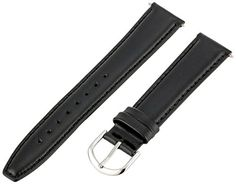 Voguestrap TX48318BK Allstrap 18mm Black Leather Padded Watch Band