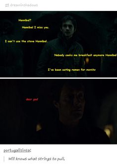 Hannibal & Will Graham: The *real* reason why Will went to find Hanni