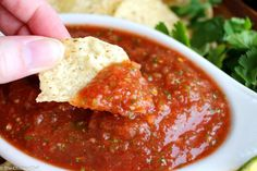 """Bright and fresh, this salsa is the best you've ever tasted! It takes just 5 minutes to make, and it's sure to """"wow"""" anyone you make it for!"""