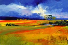 Artwork of Derric van Rensburg exhibited at Robertson Art Gallery. Original art of more than 60 top South African Artists - Since Watercolor Landscape, Abstract Landscape, Landscape Paintings, Chalk Pastel Art, South African Artists, Beautiful Paintings, Art Pictures, Art Gallery, Fields