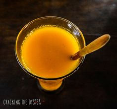 Jamu Kunyit- a blend of fresh turmeric, fresh lime juice and raw honey www.crackingtheoyster.com
