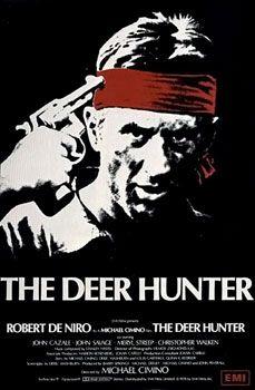 The Deer Hunter 1978 directed and co-written by Michael Cimino staring Robert De Niro, Christopher Walken, John Savage, John Cazale, Meryl Streep and George Dzundza. Meryl Streep, Great Films, Good Movies, Movies Free, Amazing Movies, Man Movies, Michael Cimino, Cinema Posters, Movie Posters