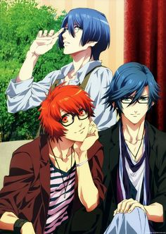 I love how Ittoki is the one wearing the hipster glasses XDDD