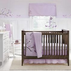 Lilac Blossom Bedding by MiGi - Blossom Baby Crib Bedding - mgd10930