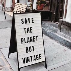 save the planet buy vintage Second Hand Shop, Second Hand Clothes, Fast Fashion, Slow Fashion, Ethical Fashion, Hand Quotes, Vintage Quotes, Shopping Quotes, Save The Planet