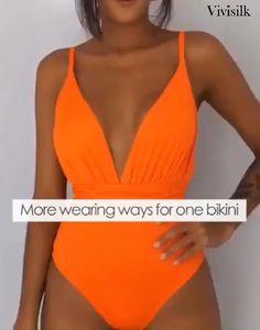 Summer Outfits, Cute Outfits, One Piece Dress, 2 In 1 Dress, One Piece Ship, The Bikini, Bikini Tops, Swimwear Fashion, Women Swimsuits