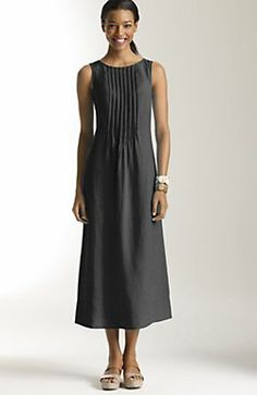 j jill - sleeveless pintucked linen dress - $90 on sale = this one.