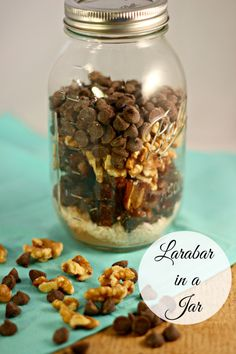 Larabar in Jar- would make a super cute DIY Christmas gift from the kitchen!