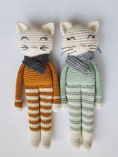 Gato Crochet, Crochet Octopus, Diy Crochet, Crochet Toys, Crochet Baby, Crochet Doll Tutorial, Crochet Cat Pattern, Easy Crochet Patterns, Crochet Patterns Amigurumi