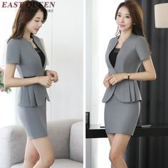 TB2YLI1f.dnpuFjSZPhXXbChpXa_!!1805363611 Office Fashion, Work Fashion, Star Fashion, Hijab Fashion, Fashion Dresses, Suit Jackets For Women, Suits For Women, Clothes For Women, Business Outfits