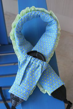 Nursery Rhymes and Sweet Times: Camera Strap Slipcover Tutorial (with ruffles and lens cap pocket)