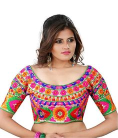 Here are the 30 different readymade Blouse Designs that can definitely help ladies´s to match with any type of saree. Latest Blouse Neck Designs, Saree Blouse Designs, Sari Blouse, Designer Blouses Online, Designer Blouse Patterns, Embroidered Blouse, Traditional Outfits, Blouses For Women, Clothes