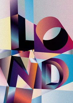 LONDON on Behance_(my kind of graphics!)