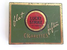 Antique Lucky Strike Cigarette advertising compact tin - vintage  the Pink Room  161104 by ThePinkRoom