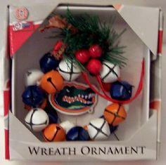 University Of Florida Gators Wreath Christmas Ornament New  $19.99