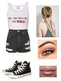 """""""❤️❤️❤️"""" by victoriamajors ❤ liked on Polyvore featuring Topshop and Converse"""