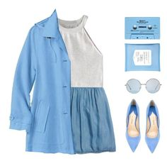 """""""bluesday"""" by via-m ❤ liked on Polyvore featuring Madewell, WithChic, CASSETTE, Paul Andrew, women's clothing, women, female, woman, misses and juniors"""
