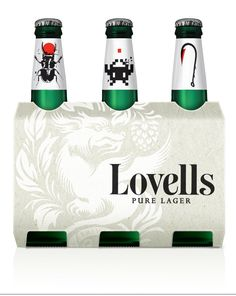 Lovells Lager by Mikey Hart, via Behance
