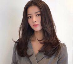 Korean Hairstyles Women, Redhead Hairstyles, Pretty Hairstyles, Japanese Hairstyles, Asian Hairstyles, Men Hairstyles, Medium Hair Cuts, Medium Hair Styles, Asian Haircut