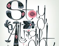 Stay all right (Lettering) by Fantastic Hysteria, via Behance