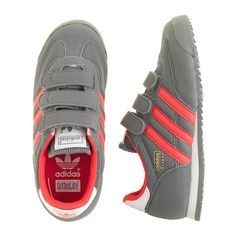 J.Crew - Boys' larger sizes Adidas® Dragon sneakers in grey