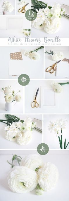 The White Flowers mockups bundle by Tabita's shop on @creativemarket