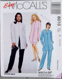 Easy McCalls 8010 Asian Inspired Hip Length Jacket by knightcloth, $8.95