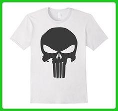 Mens Marvel The Punisher Skull Blacked Out Logo Graphic T-Shirt Large White - Superheroes shirts (*Amazon Partner-Link)