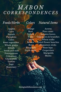 Mabon, Samhain, Magick, Witchcraft, Wiccan Spells, Wicca Holidays, Wiccan Sabbats, Wiccan Altar, Season Of The Witch