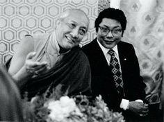 Dilgo Khyentse Rimpoche with Chögyam Trungpa Rimpoche