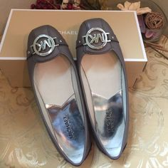 Michael Kors Flat Shoes Michael Kors Fulton in color Cinder (grayish-purple-ish). Practically new, only used once in a carpeted floor. Excellent (like new) condition. MICHAEL Michael Kors Shoes