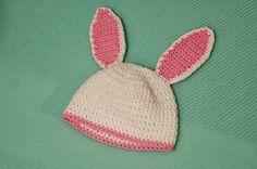Areia: GORROS DE ANIMALITOS Gorro de conejo para bebe Winter Hats, Crochet Hats, Crafts, Inspiration, Caps Hats, Rabbits, Bebe, Knitting Hats, Biblical Inspiration