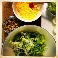 Deviled Avocado Eggs, Radish Frisee Salad with Shaved Pistachio www.chefandhound.com