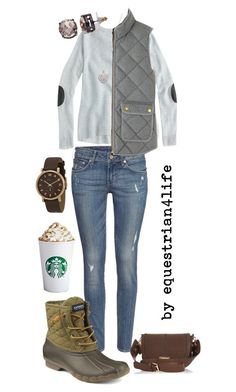 """""""October Cool+Earthy"""" by equestrian4life ❤ liked on Polyvore featuring J.Crew, Accessorize, H&M, Sperry Top-Sider, River Island, Dana Buchman and Marc by Marc Jacobs"""