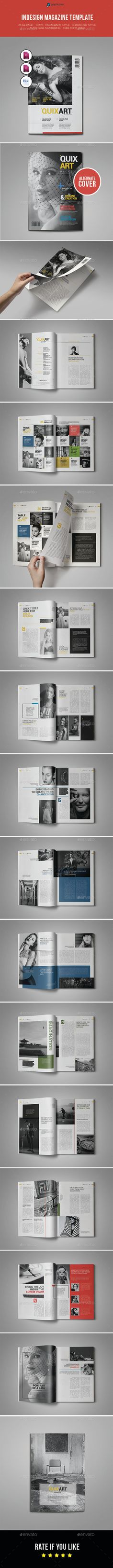 Indesign Magazine Template — InDesign INDD #color #magazine • Available here → https://graphicriver.net/item/indesign-magazine-template/11078975?ref=pxcr