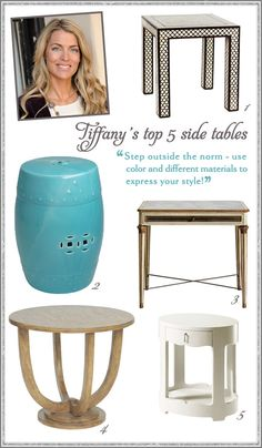 Top 5 Side Tables