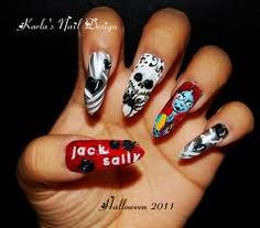 nightmare before christmas nails love