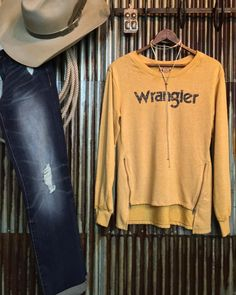 """1,960 Likes, 37 Comments - Savannah Sevens Western Chic™ (@savannah7s) on Instagram: """"Distressed. Mustard. Retro. Perfection. {{new arrival}} #yesmaam #wrangler #warbonnethatworks…"""""""