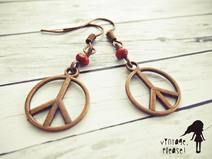 Love & Peace ❤ Ohrringe ☮ Hippie  #dawanda #hippie #ethno #vintage #boho